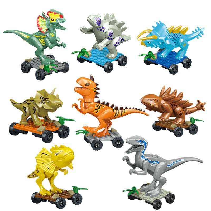 Figuras del mundo de dinosaurios Jurassic, Tiranosaurio Rex, Legoings compatibles con bloques de construcción, dinosaurios, juguetes para niños BKX97