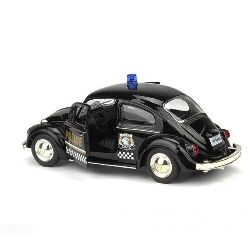 R Beetle-coche de policía de juguete para niños, vehículo de aleación extraíble, réplica, modelo de fábrica Original, Colección, 1:36
