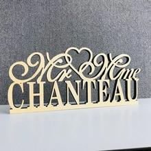 Panneau de Table personnalisé pour mariage   Panneau de Table en bois couleur personnalisée avec nom Mr et Mrs, signe de mariage avec nom, fournitures de décoration pour mariage mariée et marié