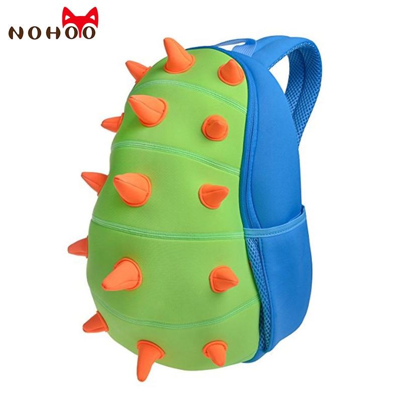 NOHOO Children School Bags Kids Baby 3D Dinosaur Backpack Toddler Backpacks for Boys Girls Dinosaur Bookbag Cartoon Toys Bag