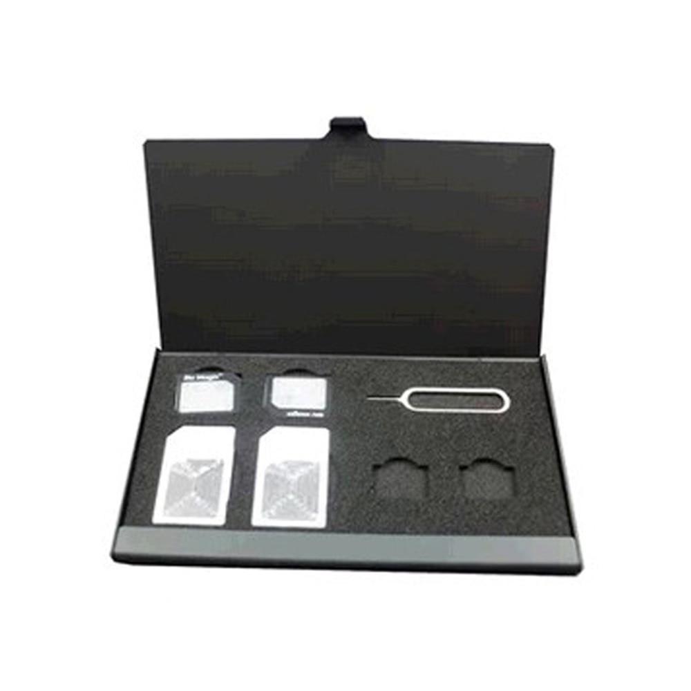 Nuevo portátil de aluminio para Apple Samsung 56, caja de almacenamiento de tarjeta SIM de memoria para teléfono móvil, caja protectora, caja de almacenamiento