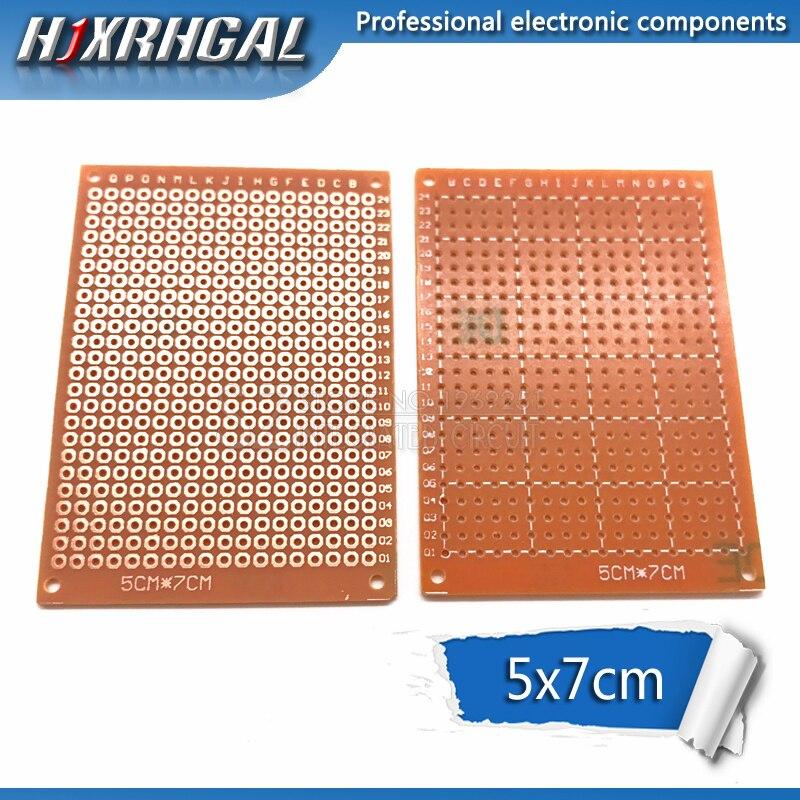 5 uds. 5x7cm 5x7, nuevo prototipo de papel de cobre, PCB, placa de circuito matricial experimental Universal, hjxrhgal