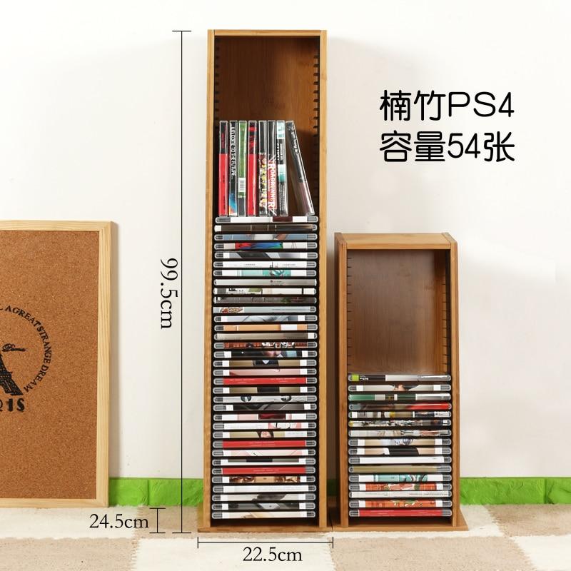 خامة بامبو عالية السعة CD حامل DVD رف PS4 لعبة تخزين الرف بلو راي القرص الرف الأسود فيلم رف CD استقبال الرف