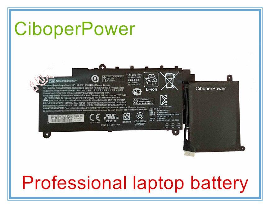 Bateria Original para Novo 43Wh 11.4 V Bateria para HSTNN-DB6O PL03 778813-221 series Laptop 3720 mAh