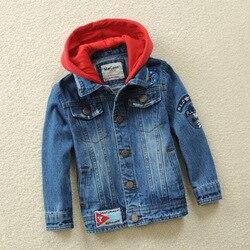 Crianças Jaqueta Jeans 2019 Moda Primavera Outono Crianças Casaco Com Capuz Jean Para O Menino Menina Casaco Outerwear Clj105 3-14Y