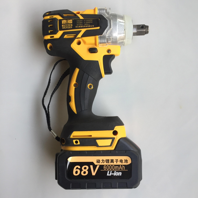 مفتاح سقاطة كهربائي لاسلكي بدون فرشاة ، مثقاب يدوي 380N/M 6000mAh Li ، أدوات تركيب كهربائية