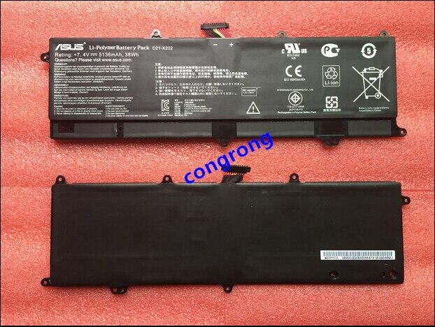 7.4 V 38Wh 5136 mah Bateria de Substituição Para Asus Vivobook C21-X202 S200 S200E X201E X202E Q200E S200E-CT157H