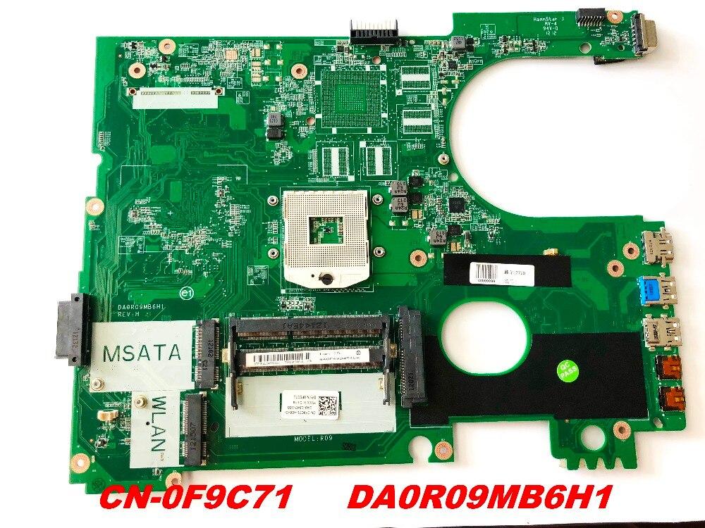 الأصلي لديل 5720 7720 اللوحة المحمول SLJ8C HM77 CN-0F9C71 DA0R09MB6H1 اختبار جيدة شحن مجاني موصلات