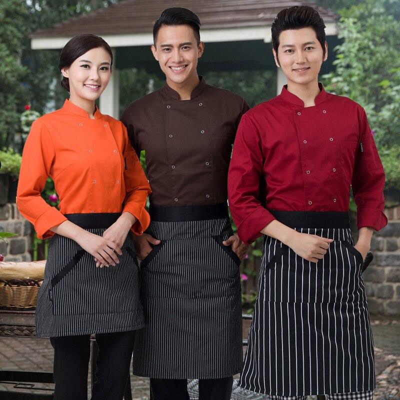 Cocinero cocina colores de alta calidad uniformes de chef uk ropa femenina restaurante chefs ropa señoras chefwear envío gratis