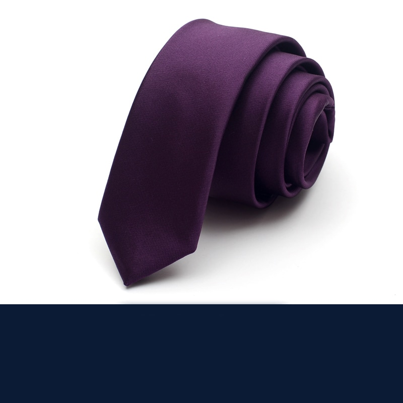 2019 New Arrivals Men's High Quality Solid Color 5CM Slim Neckties Romantic Wedding Groom Neck Tie for Men Pack with Gift Box