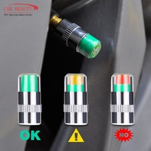 Tire Pressure Monitor Valve Stem Cap Sensor Indicator 32 Psi 2.2 Bar Air Warning Alert Valve Pressur