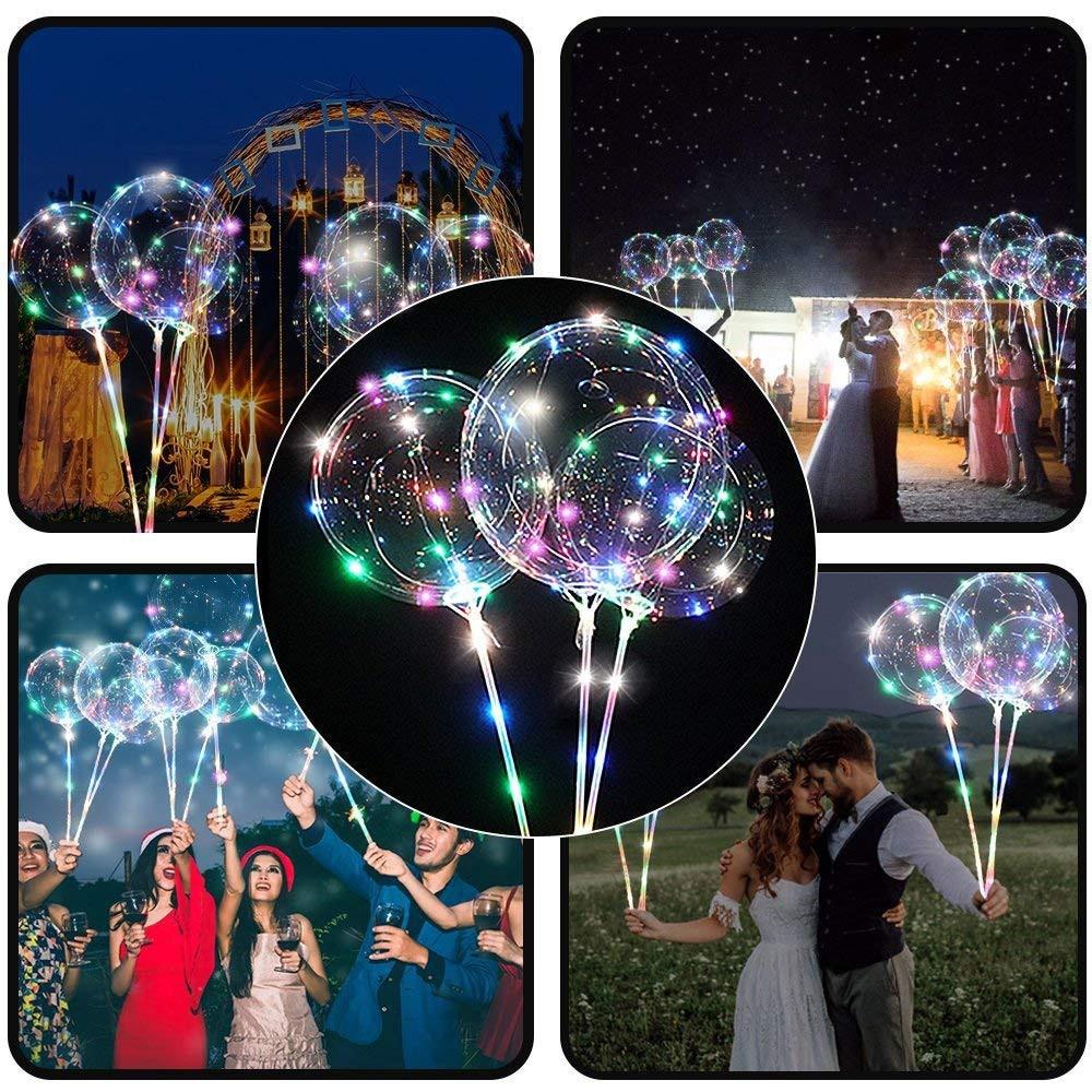 Ballon à réutilisable   Bulle ronde transparente de décoration pour fête de mariage, ballon de couleur claire/chaud blanc clair