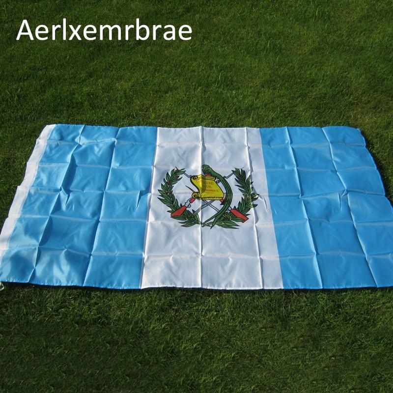 Freies verschiffen aerlxemrbrae flagge Guatemala Flag 3ft X 5ft Polyester Guatemala Nationalflagge