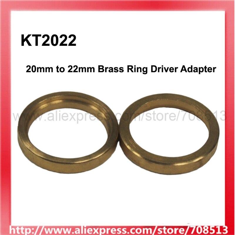 KT2022 20mm (Interior) a 22mm (externo) adaptador de controlador de anillo de latón para placa de circuito de 20mm (2 uds)