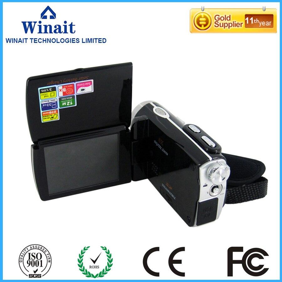 Cámara de vídeo digital Winait Max de 12 Mega píxeles con cámara de PC, función de carga solar Dual, grabación de voz