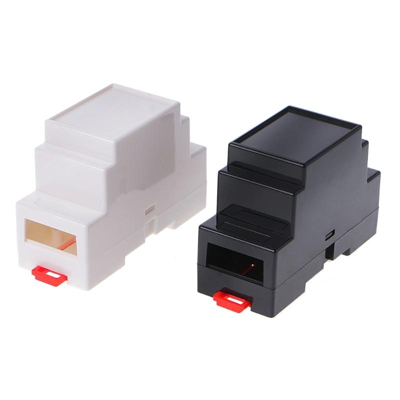 2 шт. 88x37x59мм пластиковая коробка для электроники проект случае din-рейка распределительная коробка ПЛК Dls HOmeful