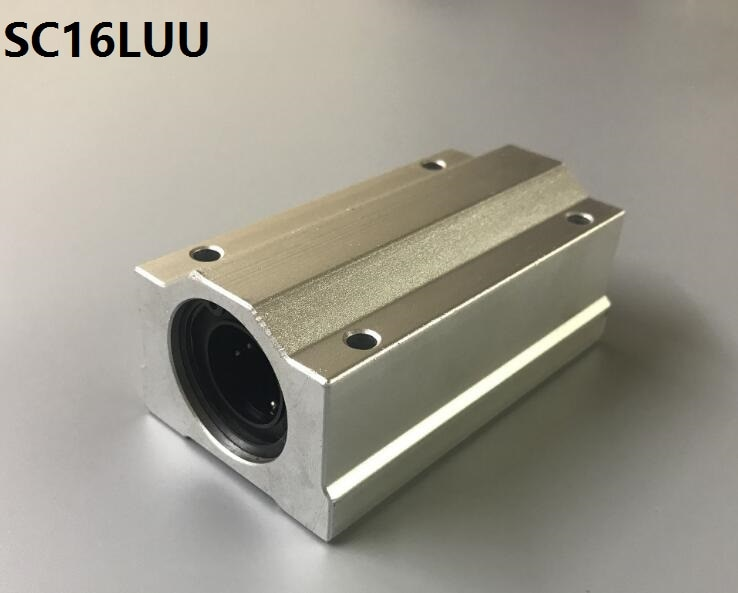 50pcs/lot SC16LUU SCS16LUU long type linear case unit linear ball bearing sliding block for 16mm linear shaft CNC router part