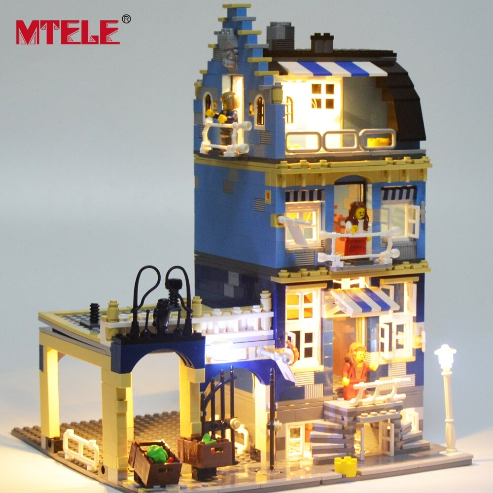 MTELE Brand Led Light Set For 10190 Factory City Street European Market Compatible With Model 15007