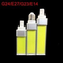 Led-lampen 10W 12W 15W G24/E27/G23/E14 COB LED Corn Bulb Lamp licht 180 Graden AC85-265V led Spotlight Horizontale Plug Licht