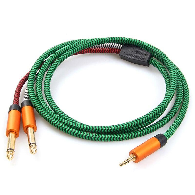 Línea de audio de 3,5mm a doble línea de conexión de 6,5mm cable jack 3,5 vga a rca tv caja auriculares cable de sonido óptico adaptador hdmi