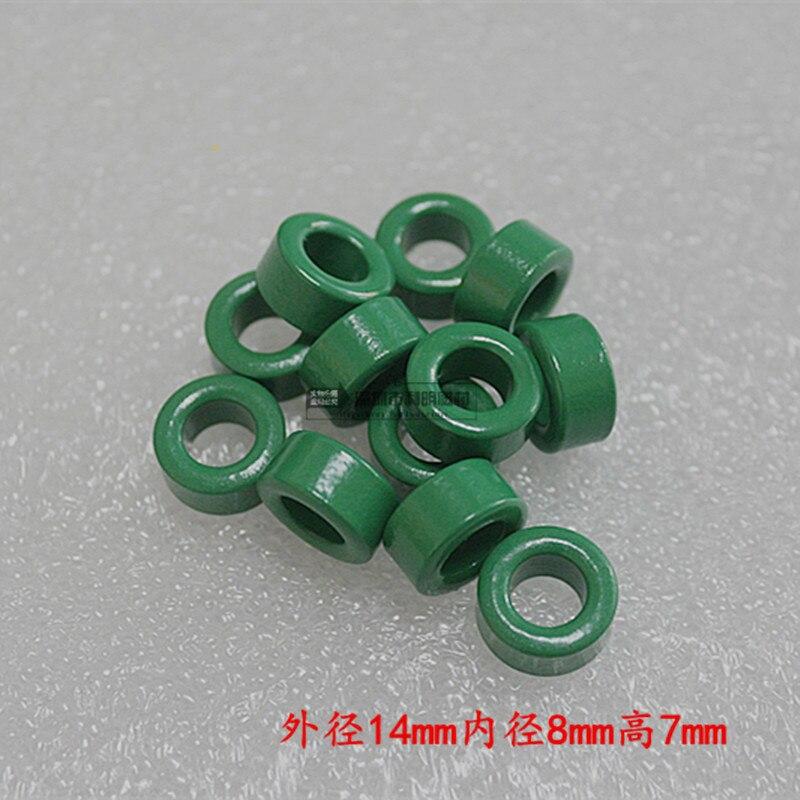 ANILLO DE POTENCIA VERDE 14*8*7 bobina de inductancia de modo común anillo magnético antiinterferencias con ferrita anillo