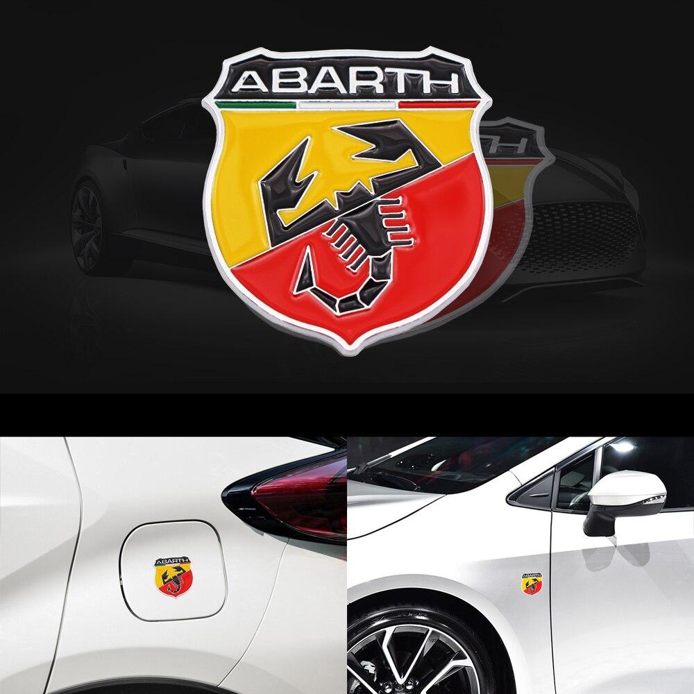 3D Metal Italia Abarth de escorpión coche Abarth adhesivo insignia emblema pegatina Scorpion para Fiat Viaggio Abarth Punto 124 125 500