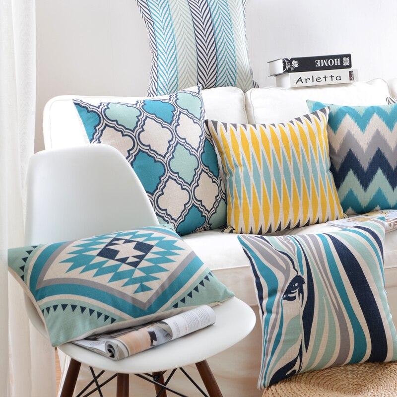 Estilo de moda colorido geométrico impresso capa de almofada decorativa sofá lance travesseiro cadeira do carro decoração para casa travesseiro caso almofadas