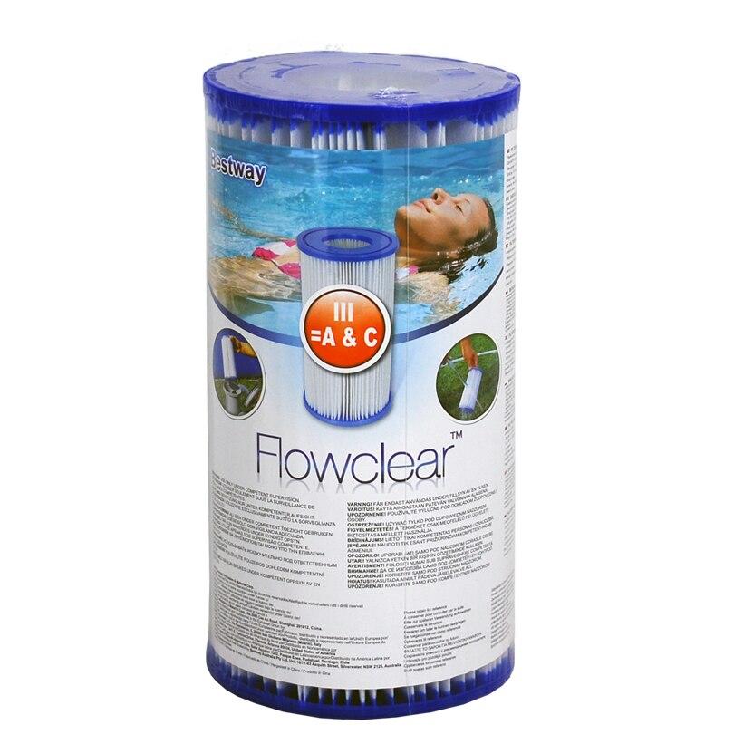 Bomba de filtro de agua cartucho tipo III 58012 para bomba de filtro para piscina de 1500 galones