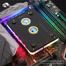 Bykski CPU bloque de agua uso para AMD RYZEN3000 AM3 AM3 + AM4 1950X TR4 X399 X570 placa base/5 V 3PIN RGB luz/radiador de cobre
