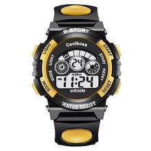 Children watch boy digital timing technology fashion LED sports watch outdoor alarm clock date gift