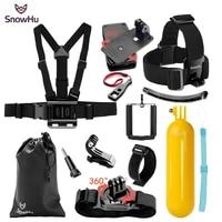 snowhu for yi 4k accessories kit chest strap monopod for gopro hero 9 8 7 6 5 for eken h9r for sjcam for sj4000 camera gs67