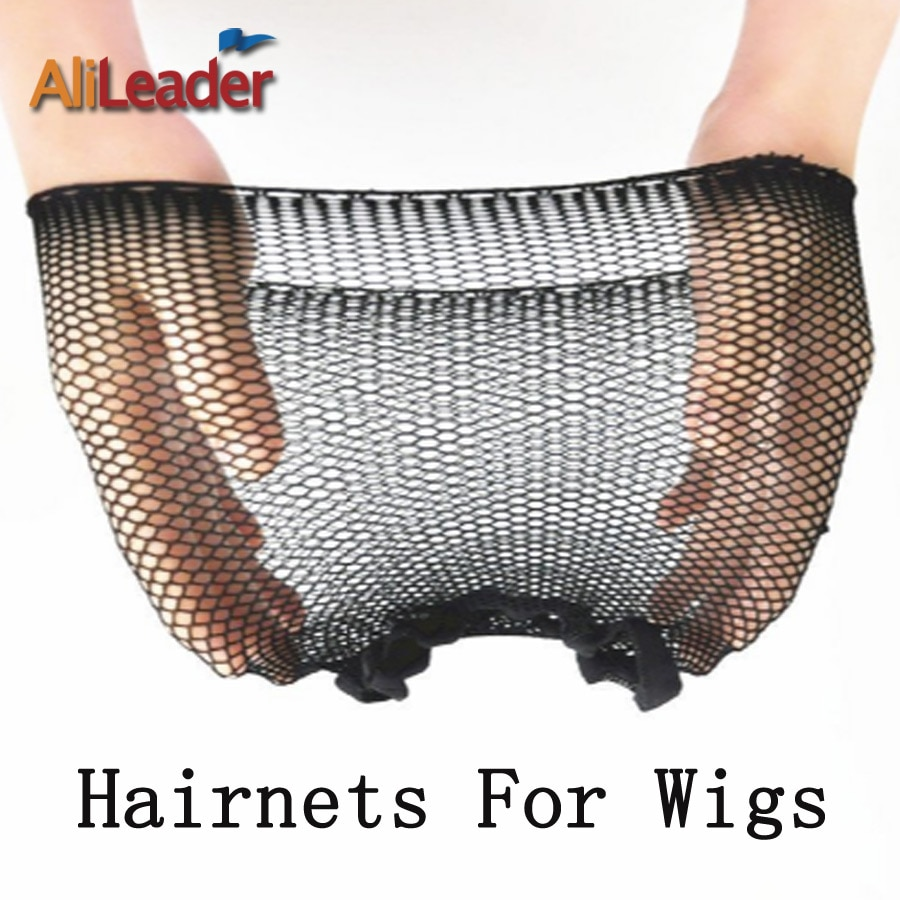 Moda de nova Hairnets 1-5 Pçs/lote Preto Malha Tecelagem Peruca de Cabelo Net, Cool Cap Tecelagem de Malha Com Elástico de Nylon Redes de Cabelo Invisíveis