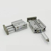 MGPMJ Pneumatic Air Cylinder 3 Rod Adjustable Cylinder MGPMJ20-20-20 MGPMJ20-25-25 MGPMJ20-40-30 MGPMJ20-50-50 MGPMJ20-75-75 TCM