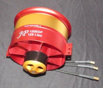 1 pces rc ar plano 50 v 142a 7100 w 9.3 kg jp 120mm edf ducted ventilador 12 lâminas com 5060 motor 750kv todo o conjunto