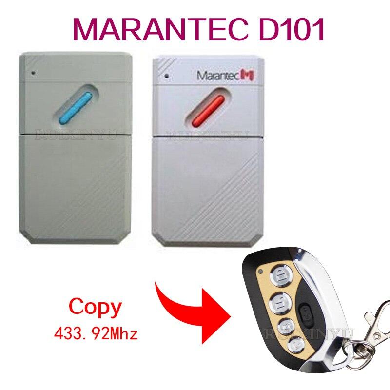 Control remoto MARANTEC D101 para puerta de garaje copia de alta calidad 433,92 mhz control remoto para puerta de garaje