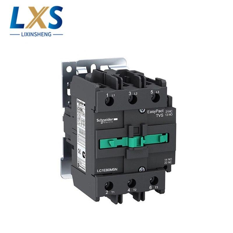 شنايدر AC قواطع LC1-E EasyPact TVS سلسلة 80A الصمام الثلاثي AC110V AC220V قواطع LC1E80M5N LC1E80F5N