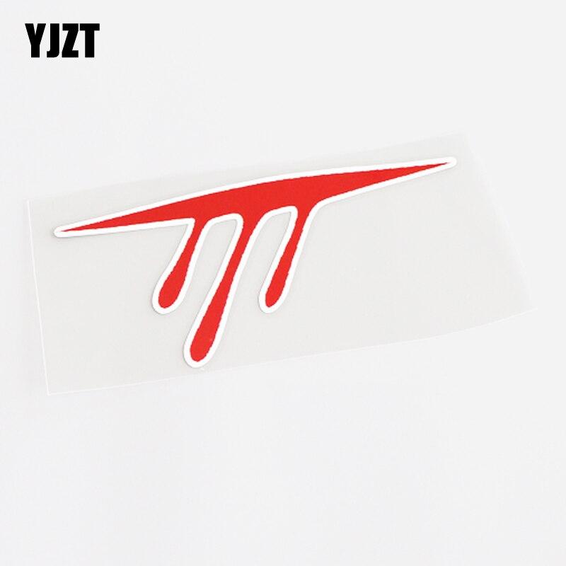 YJZT 14.5CM*6.3CM Unique Red Blood PVC Car Sticker Decal Accessories 13-0636