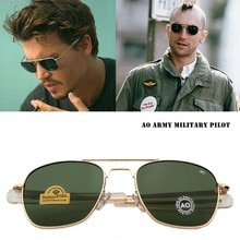 Fashion Classical Aviation Sunglasses Men AO Sun Glasses For Male American Army Military Optical Glass Lens Oculos