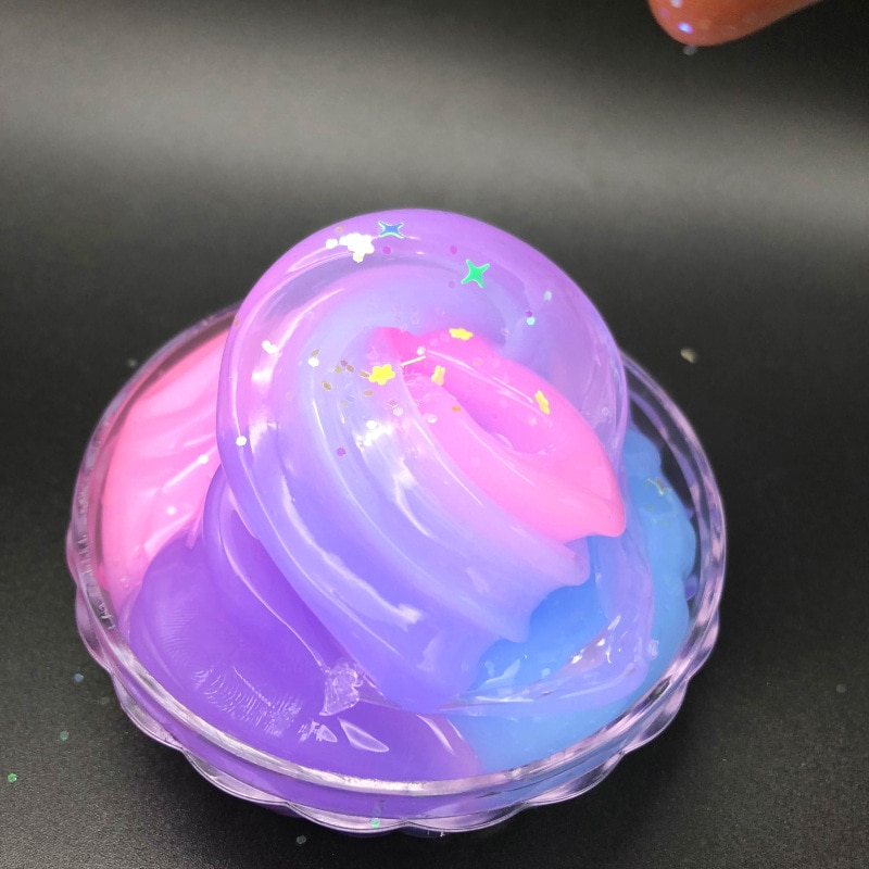New Jelly Crystal Mud Topping Sliced Light Plasticine Rainbow Mucus Mixed Color Matching Air To Send Children Gifts