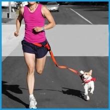 Adjustable waist belt handsfree Running Bag Walking Jogging Dog Waist Leash Traction Pet Rope chain 6 colors
