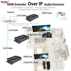 TCP IP Ethernet HDMI Extender 120m N Receptor Sobre Cat5/Cat5e/Cat6 STP UTP LAN Cabo rj45 transmissor e Receptor de HDMI sobre IP