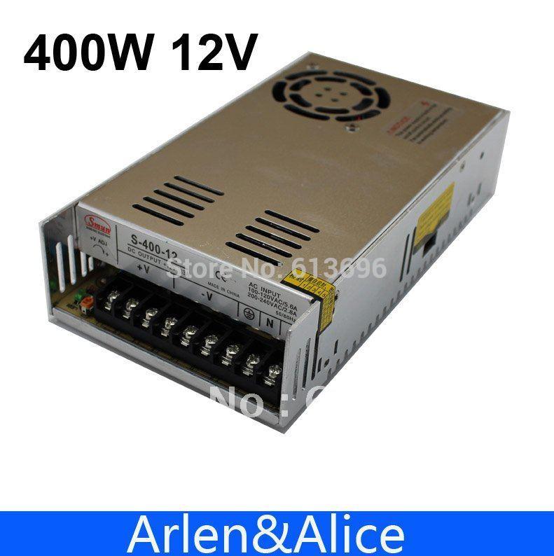 Fuente de alimentación de conmutación de salida única 400W 12V 33A para LED SMPS CA a CC