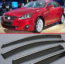 Per Lexus IS-Classe IS200 IS250 IS300 2011 + Window Vento Deflettore Visiera Pioggia/Sun Guard Vent