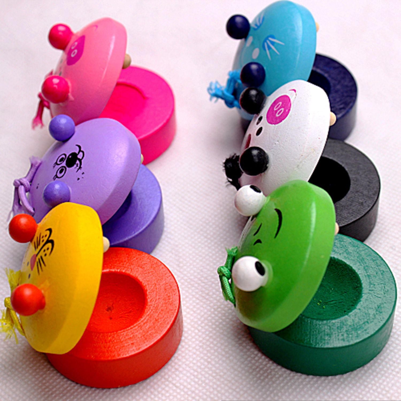 Juguete de castañuela de juguete de dibujos animados para niños instrumento Musical juguetes de preescolar educación temprana