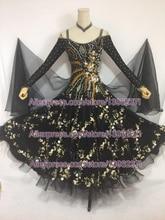 Standard Ballroom Dance Dresses 2019 Women Black Modern Dancing Costume Lady's Waltz Ballroom Competition Dance Dress