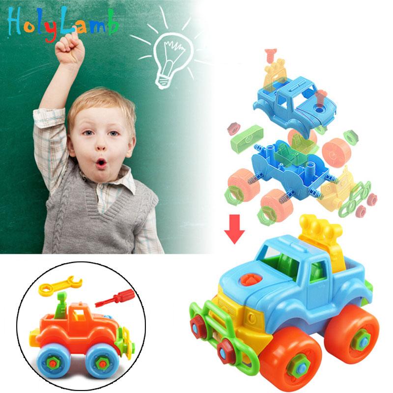 Разборная сборка гайка Игрушечная машина классическая игрушка с сборкой отвертка головоломка для раннего образования Развивающие игрушки...