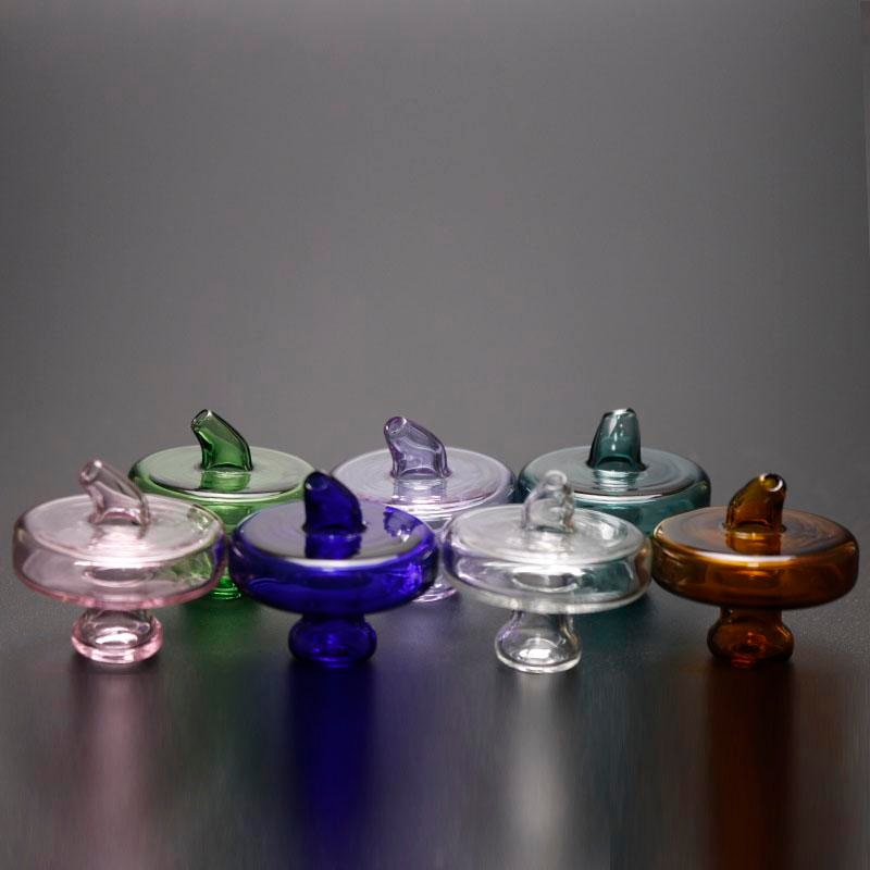 Recién llegado, sombrero gorra de OVNI Carb de cristal coloreado para uñas de brazalete de cuarzo térmico, tapa de carbohidratos para Bong de vidrio