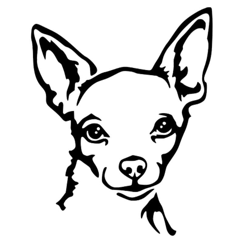 14,2*17,8 см Чихуахуа виниловая наклейка с принтом собаки светоотражающие автомобильные наклейки Стайлинг автомобиля бампер украшение мотоци...