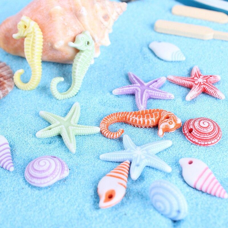 100 stücke Mini Meer Tier Fisch Shell Miniatur Garten Dekor Hause Häuser Dekoration Handwerk DIY Zubehör