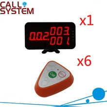 Ycall système dappel invité sans fil mode hôte affichage avec 2 touches bouton dappel par CE passé (1 affichage + 6 bouton dappel)